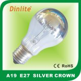 High quality A19 silver crown incandescent bulb