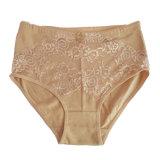 Top Grade New Design Breathable Gray Cotton High Waist Lady Underwear