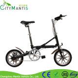 Aluminum Alloy Frame Black Mini Style Folding E-Bicycle