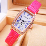 Custom Crystal Leather Band Watches for Ladies