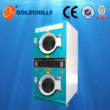 Automatic Double Deck Coin Dryer Machine Commercial Laundry Equipment