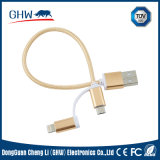 20cm USB Roundness Nylon 2 in 1 Cable Phone Accessories