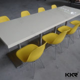 Black Modern Solid Surface Food Court Counter Table