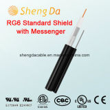 RG6 Standard Shield with Messenger Outdoor Coaxial RCA Audio Cable