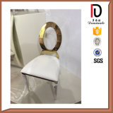 Luxury Gold Silver Hotel Restaurant Dining O Back Stainless Steel Chair (BR-F481)