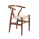 Classical Retro Style Metal Frame Woven Rope Wishbone Y Chair for Dining (SP-LC289)