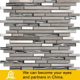 Hot Sale Horizontal Metal Mix Stone Crystal Glass for Wall