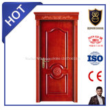 European Style Hot Sale Wood Laminated Solid Door with Upper Head
