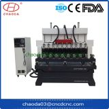 Cylinder Wood Statue Column Carving Machines 4 Axis