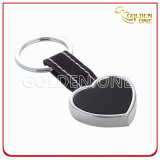 Fancy Style Metal Heart Shape Leather Key Holder