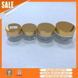 Wholesale Custom Aluminum Cream Jar Shinny Gold Lids
