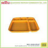 Small Size BPA Free Melamine Divided Lunch Trays
