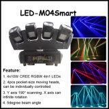 Quad Beam 4X12W LED Beam Bar Moving Head Light with Base
