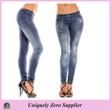 2016 Hot Sale Women Sexy Many Patterns Denim Jean Stretchy Leggings (89714)
