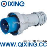 Qixing 125A 3p Blue European Standard Male Plug (QX3400)