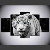 HD Printed Tiger Printed Painting on Canvas Decoration Print Poster Picture Canvas Framed Ym-011