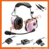 Aviation Anr Pink Color Headset Noise Canceling for General Aircraft