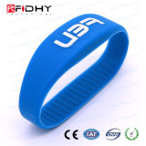 MIFARE Chip Hf 13.56 MHz Waterproof Silicon RFID Tag NFC Wristband