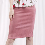Suede Skirt Pencil Skirt Women High Waist Skirts Office Skirt Lady Bodycon Skirt