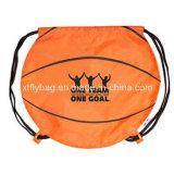 Round Basketball Shaped Drawstring Backpack