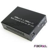 Optical Media Converter 1000m with 1X9 Dual Fiber Module 100km