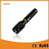 CREE Xm-L T6 USB Rechargeable Power Bank Torch (Poppas-6618)