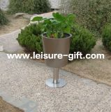 Stainless Steel Flower Pot Cup-Shaped Garden Planter (FO-9030)