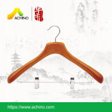 Deluxe Wooden Hanger with Clips (WDCH100-Cherry)