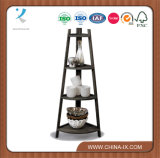 Customized Retail Display Curio with Rounded Shelves Etagere