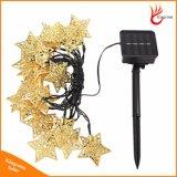 5m 20LED Metal Star String Light Solar Powered Christmas Lamps