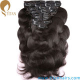 Hot Sale Thick Remy Human Hair Clips Lace Hair Weft