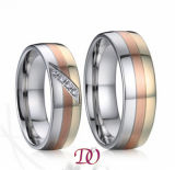 Tri-Color Steel Ring Three Color Stainless Steel Ring