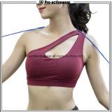 OEM Factory Gym Wear Hoodie One Shoulder Sports Bra