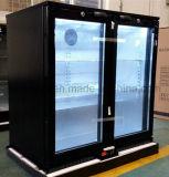 Double Glass Door Back Bar Chiller Commercial Refrigeration Beer Chiller
