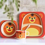 China Bamboo Fiber Kids Dinnerware Set