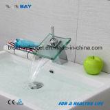 Wenzhou Bathroom Chrome Glass Waterfall Basin Mixer