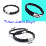 Fashion Custom Jewelry Weave Leather Bangle for Men