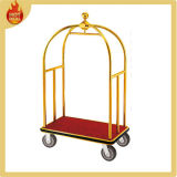 Stainless Steel Hotel Luggage Baggage Plate Cart for Sale