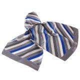 Uniform Scarf Classic Grey Stripes100% Silk Printed Logo Scarf