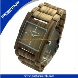 Top Quality Nature Wooden Swiss Movement Women and Men′s Watches with Factary Price