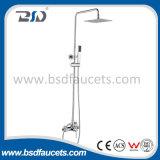 Chrome Bathroom Bath Rainfall Shower Head Shower Faucet Set