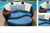 Outdoor PE Rattan Beach Sunbed Garden Furniture
