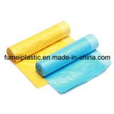 Plastic PE Draw String Garbage Bag on Roll