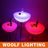 Color Changeable LED Bar Table with High Table/LED Coffee Table