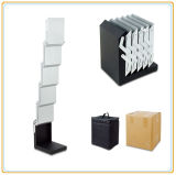 Floor Standing Aluminum Magazine Holder with 5 A4 Holders