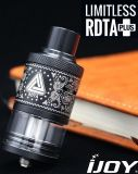 New Ijoy Limitless Plus Rdta Tank Black Red From a&D Industries