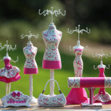 Pink Jewelry Doll Holder Display Decorative Mannequin Doll Necklace Hanging