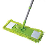 Telescopic Handle Chenille Microfiber Feather Flat Mop (1013)