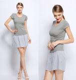 OEM 100% Cotton Short Sleeve Women Blouse