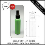 60ml Pet Plastic Sprayer Bottle for Cosmetic